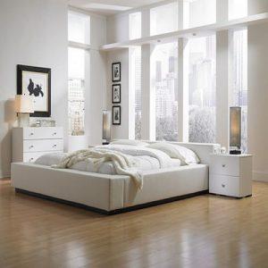 Màu sắc tươi sáng của sàn gỗ cho phòng ngủ nhỏ hẹp