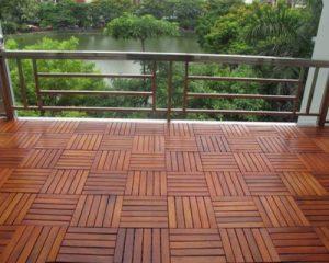 Sàn gỗ ngoài trời cho ban công cho người mệnh mộc