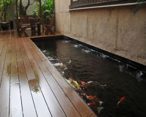 Sàn gỗ ngoài trời cho khả năng chống nước