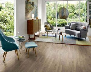 Sàn gỗ công nghiệp phòng khách sang trọng