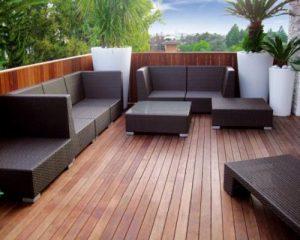 Sàn gỗ ngoài trời khu vực sân thượng