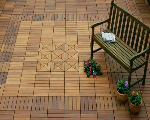 Sàn gỗ ngoài trời lắp đặt không gian ngoại thất
