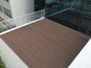 Công trình sàn ngoài trời áp dụng tại trường học