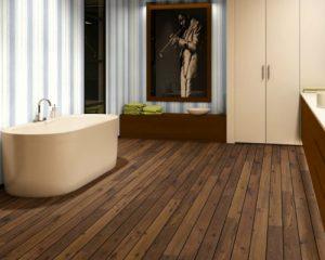 Sàn gỗ có khả năng chịu nước cao cho không gian nhà tắm