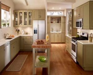 Sàn gỗ công nghiệp cho không gian nhà bếp