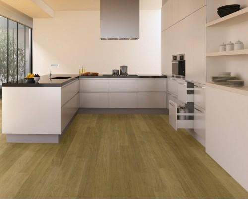 sàn gỗ công nghiệp phòng bếp