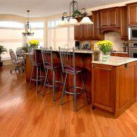 sàn gỗ cho nhà bếp sang trngj hơn