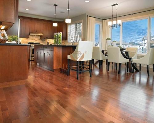 sàn gỗ tự nhiên cho phòng khách sang trọng