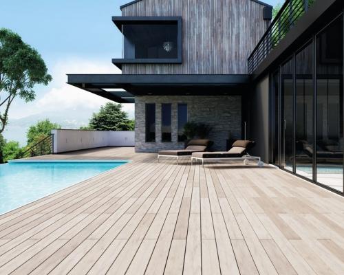 sàn gỗ nhựa ngoài trời bể bơi