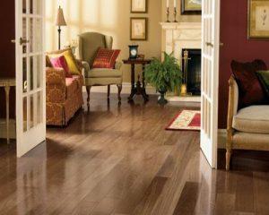 Nội thất phòng ngủ với sàn gỗ công nghiệp sang trọng